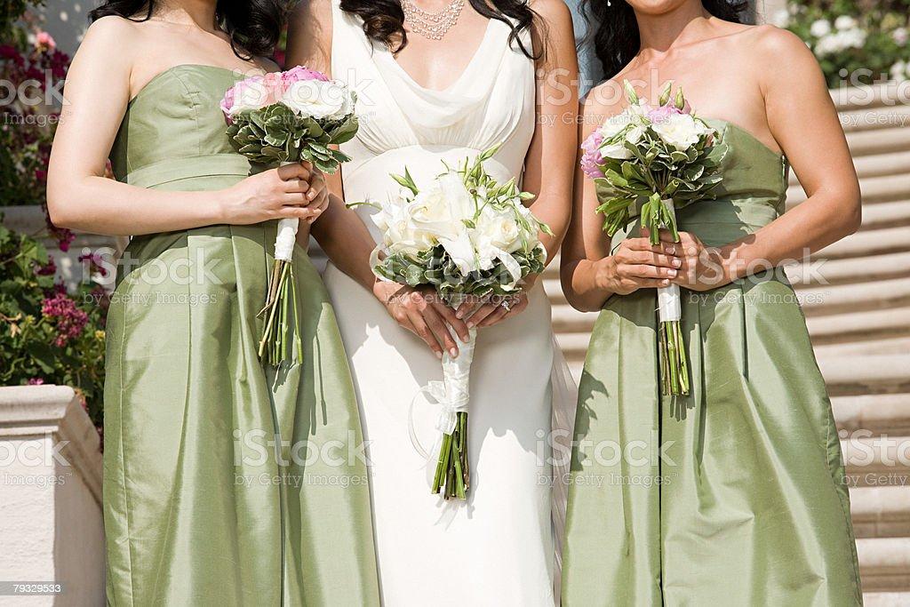 Bride and bridesmaids 免版稅 stock photo