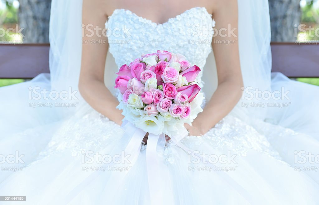 Bride And Flowers stock photo