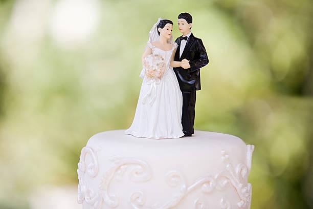 Le marié et la mariée figurines - Photo