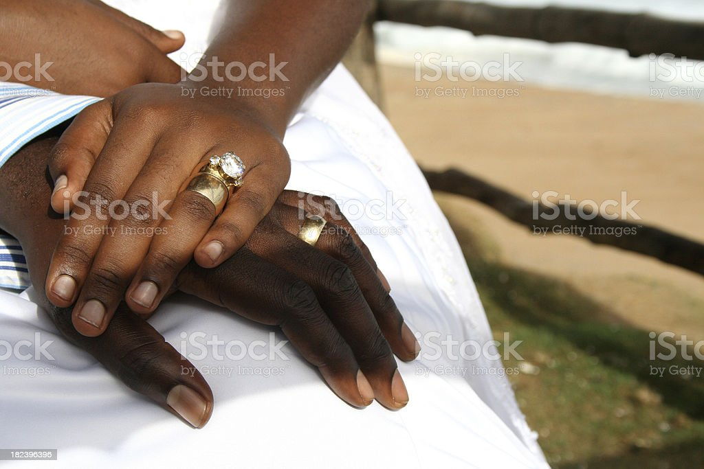 Bride and Groom Hands royalty-free stock photo