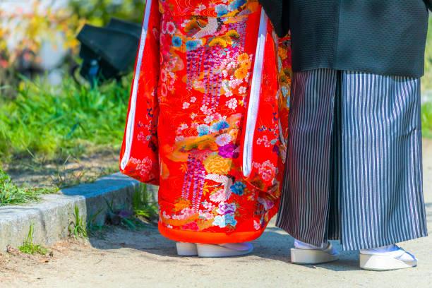 Braut und Bräutigam in Kimono – Foto