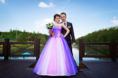 istock Bride and groom near the lake 175412919