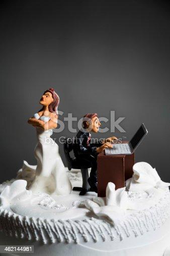 172144035 istock photo Bride and Groom on wedding cake 462144981