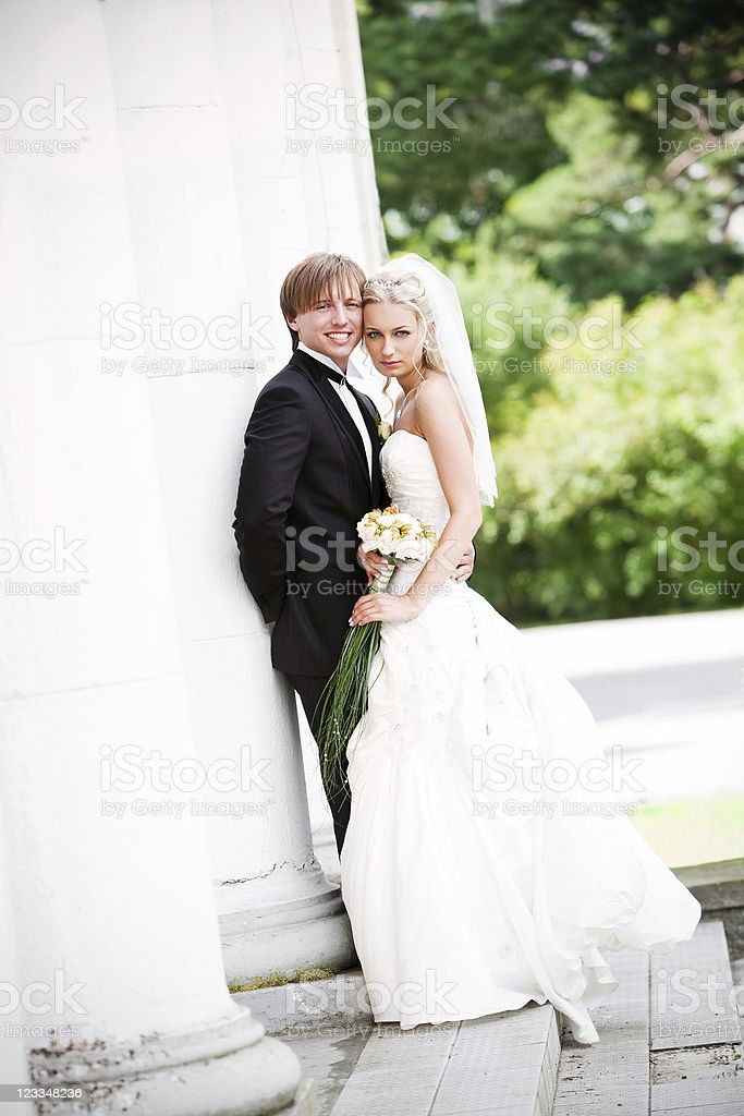 Bride and Groom royalty-free stock photo