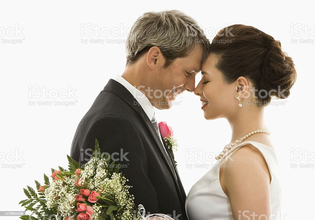 Bride and groom. royalty-free stock photo