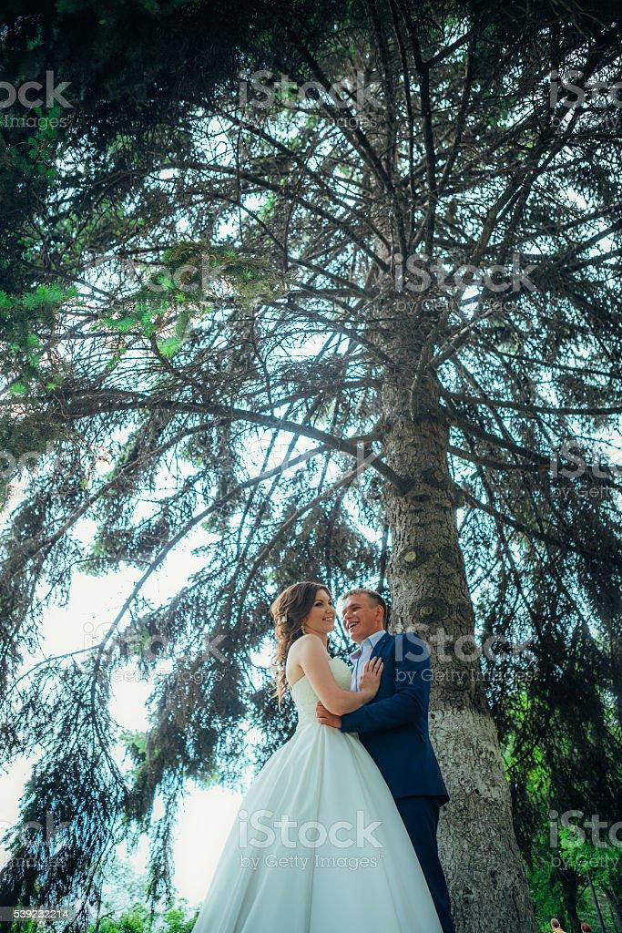 Noiva e noivo  foto royalty-free