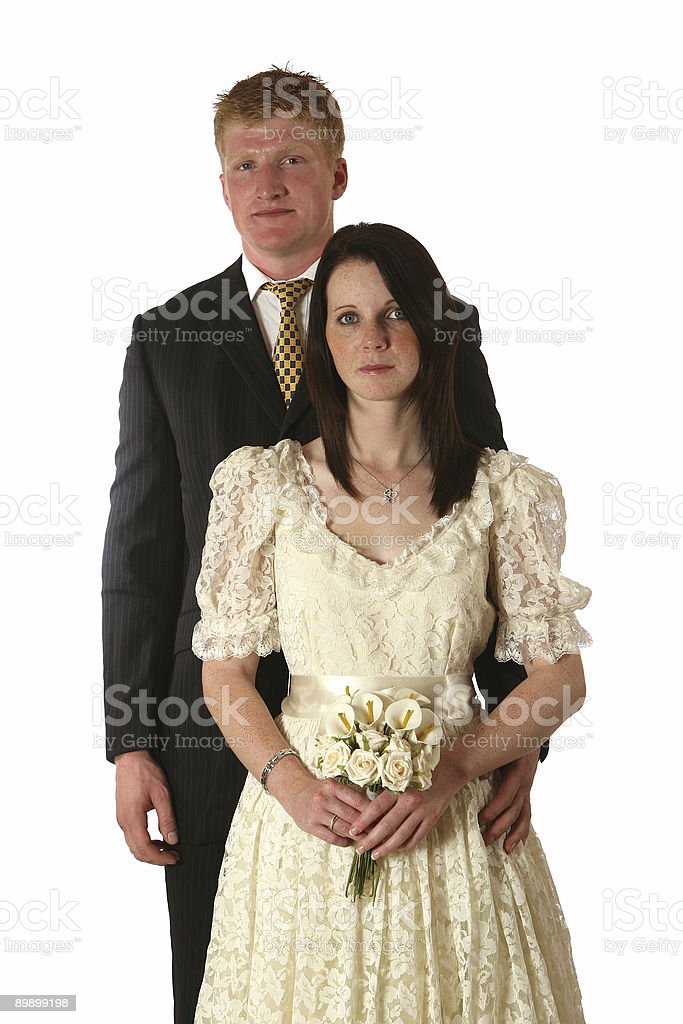 Bride and groom royalty free stockfoto