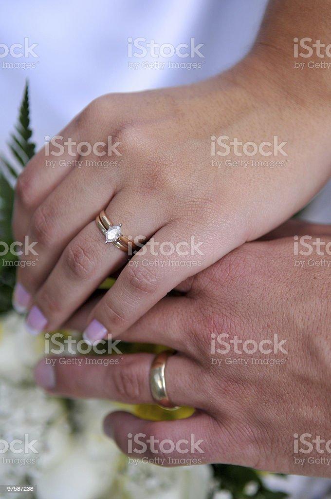 Le marié et la mariée photo libre de droits