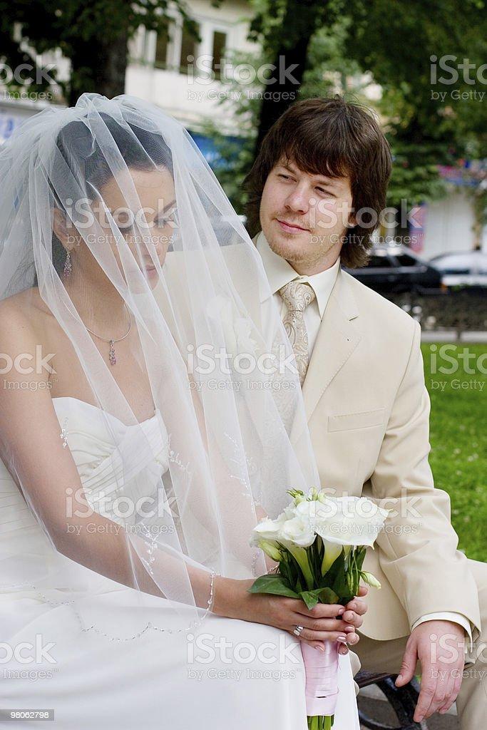 Sposa e lo sposo foto stock royalty-free