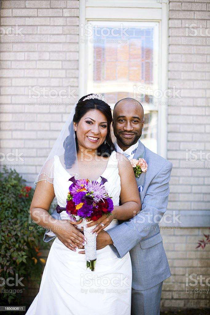 Bride and Groom Portrait stock photo