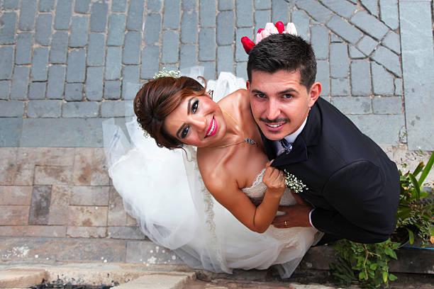 Porträt Braut und Bräutigam – Foto