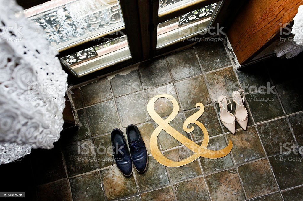 Bride and Groom wedding shoes,wedding – Foto