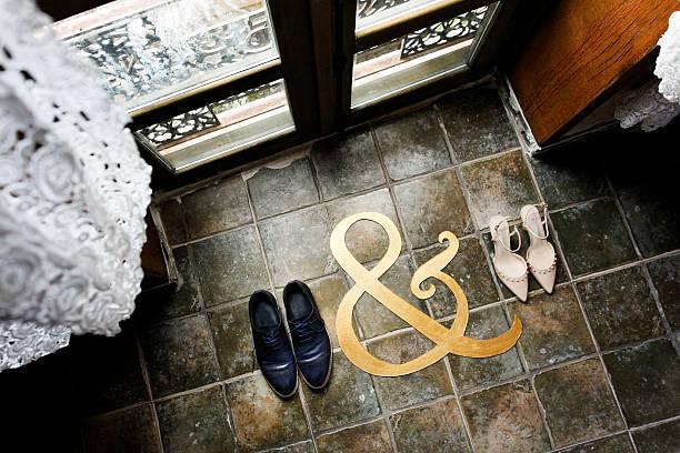 Bride and Groom wedding shoes,wedding – Foto