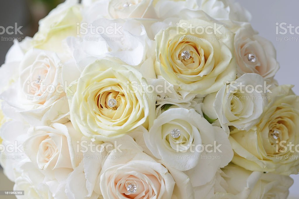 Bride bouquet closeup royalty-free stock photo