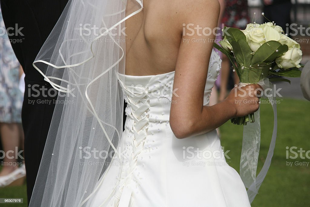 Bride & Bouquet royalty-free stock photo