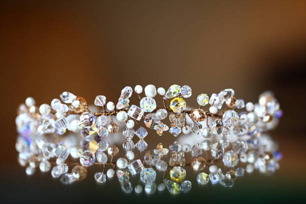 bride crown - diadem stock pictures, royalty-free photos & images