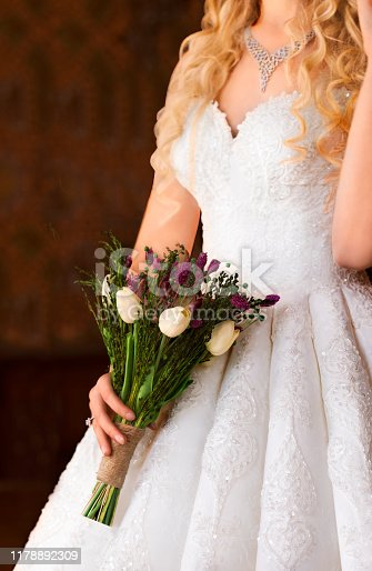 Bride, Wedding, Flower, Necklace, Jewelry