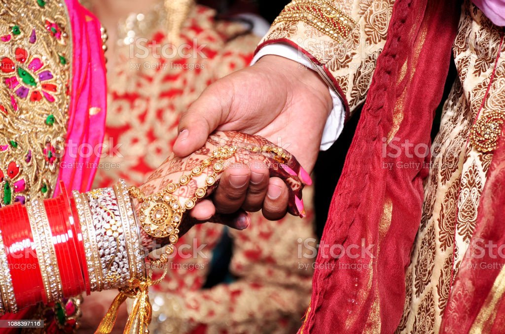 Bride Groom Hand Together In Indian Wedding Stock Photo Download Image Now Istock