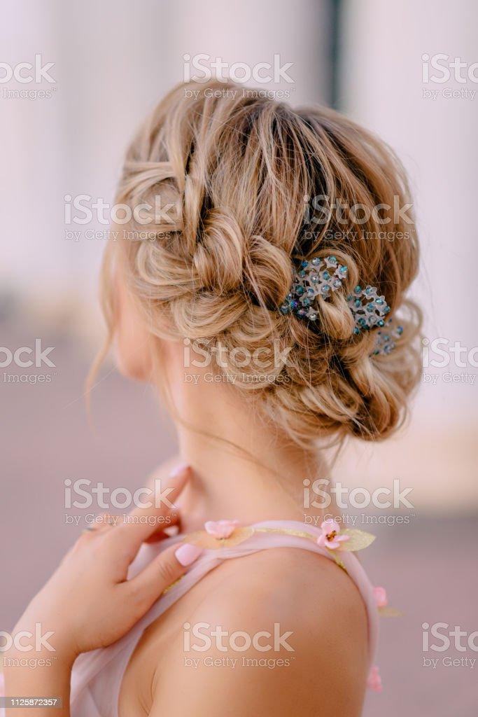 新娘髮型特寫 - 免版稅一個人圖庫照片