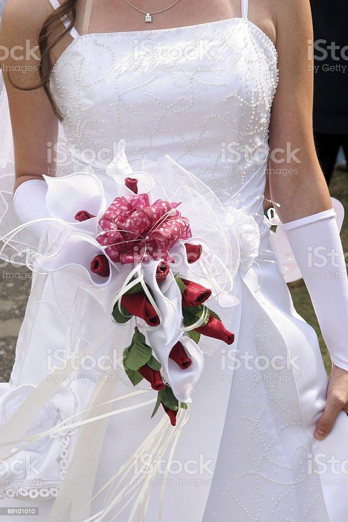 bride in wedding dress royalty-free stock photo