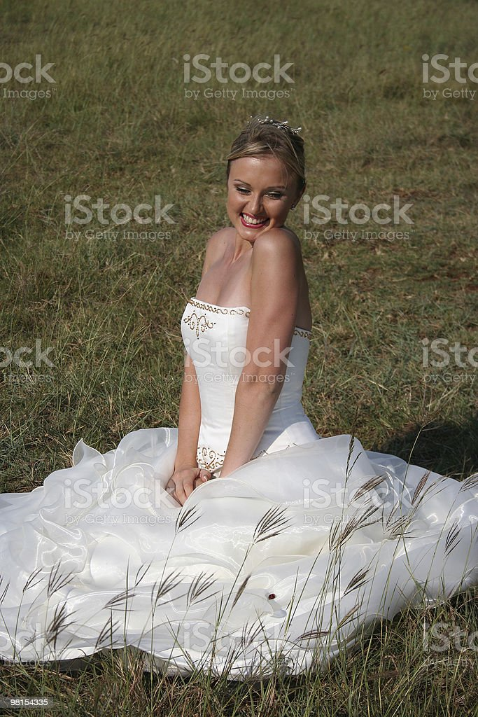 Bride in wedding dress royalty-free stock photo