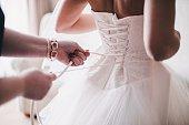 istock Bride in white dress 480193750