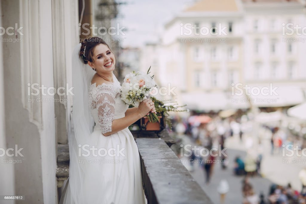 bride in white dress royalty-free 스톡 사진