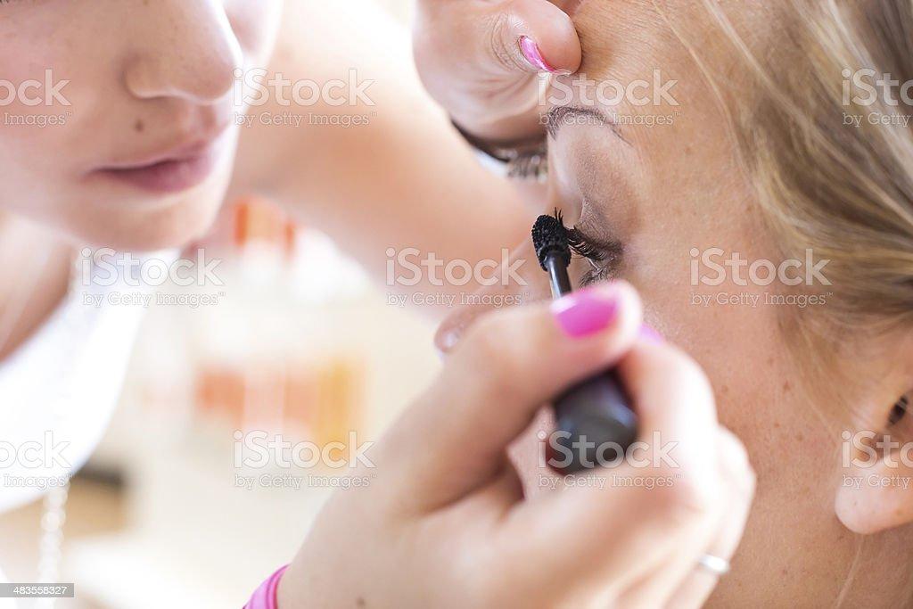 bride make-up. stock photo
