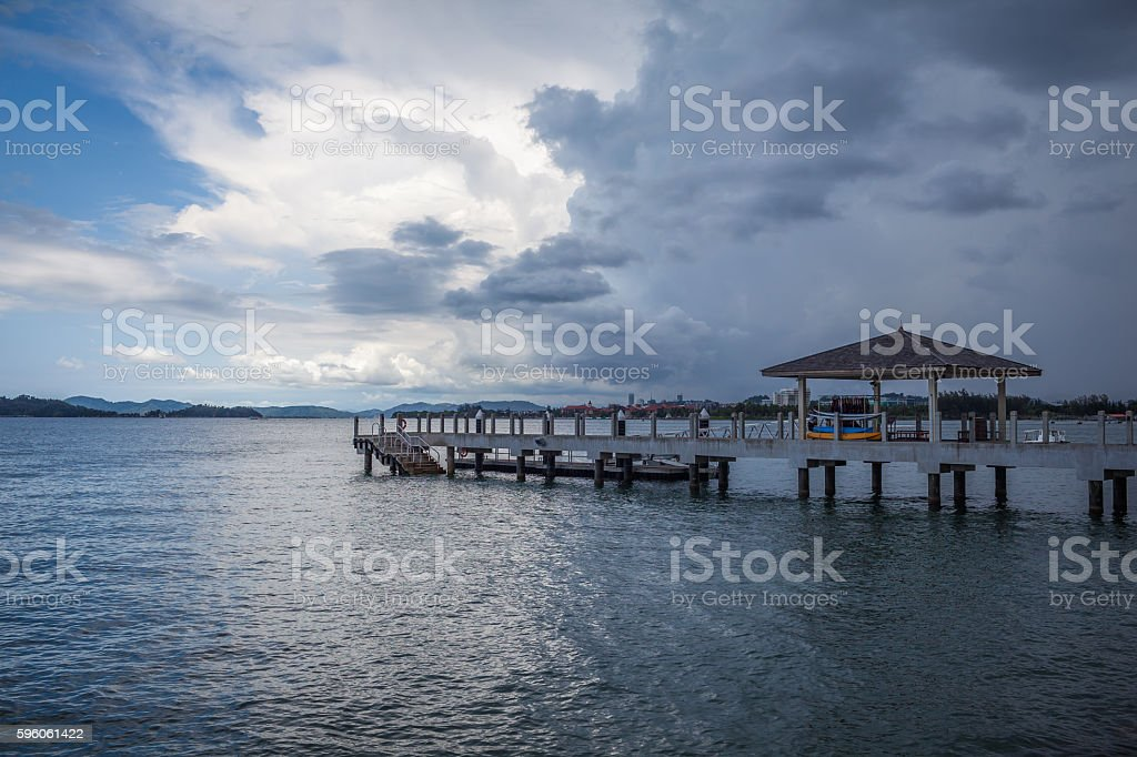 bride of wood in malaysia beach royalty-free stock photo