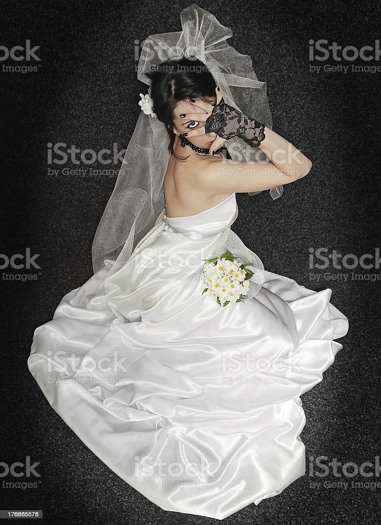 bride on dark royalty-free stock photo