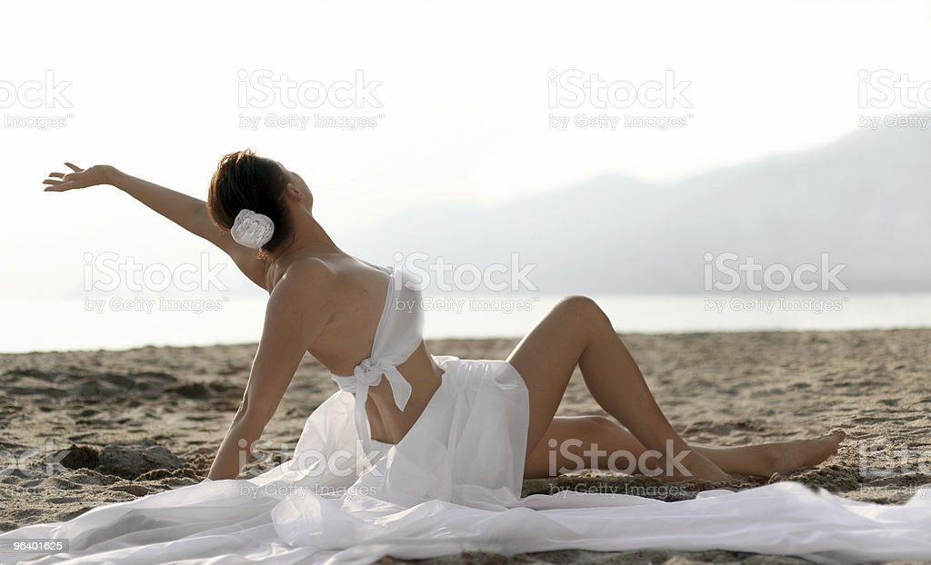 Bride on the beach - Royalty-free Adult Stock Photo