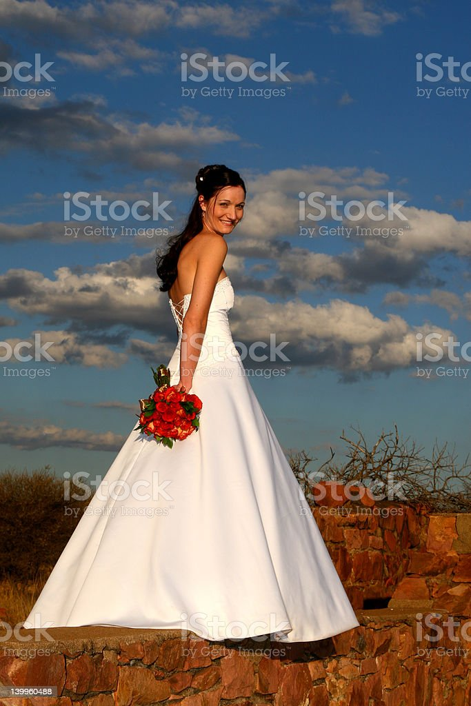 Bride on Wall royalty-free stock photo