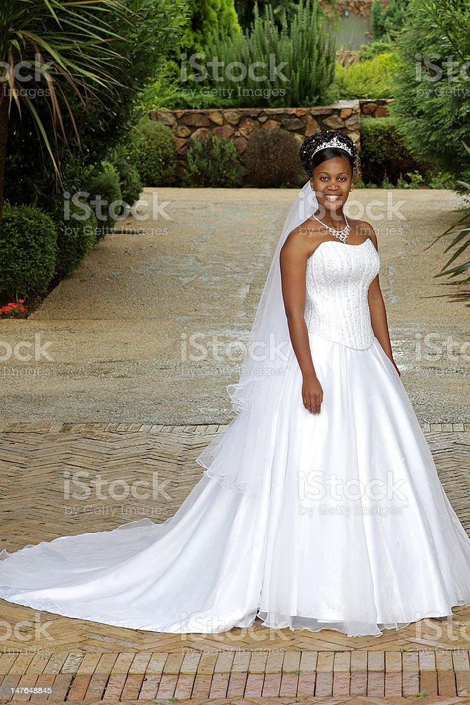 Bride Outside stock photo