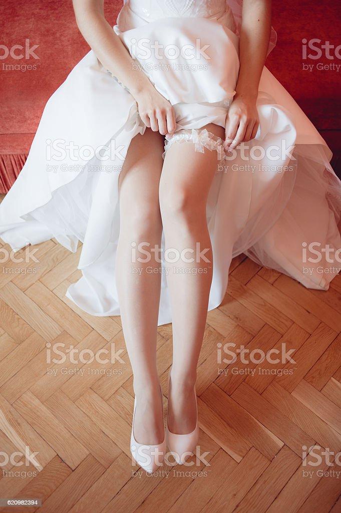Noiva de preparação foto royalty-free