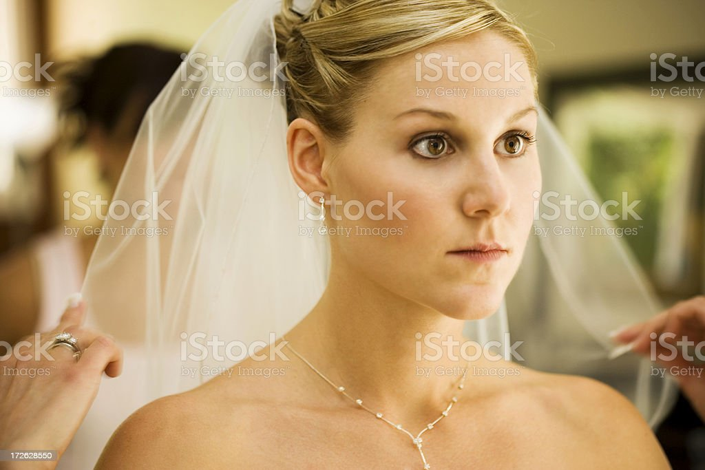 Bride Preparing stock photo