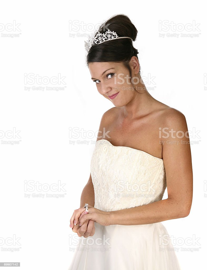 Bride Reflecting on Her Pending Marriage royalty-free stock photo