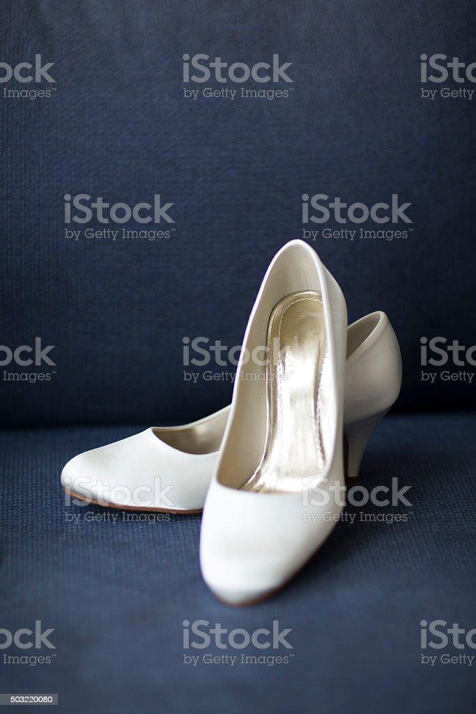Bride shoes. stock photo