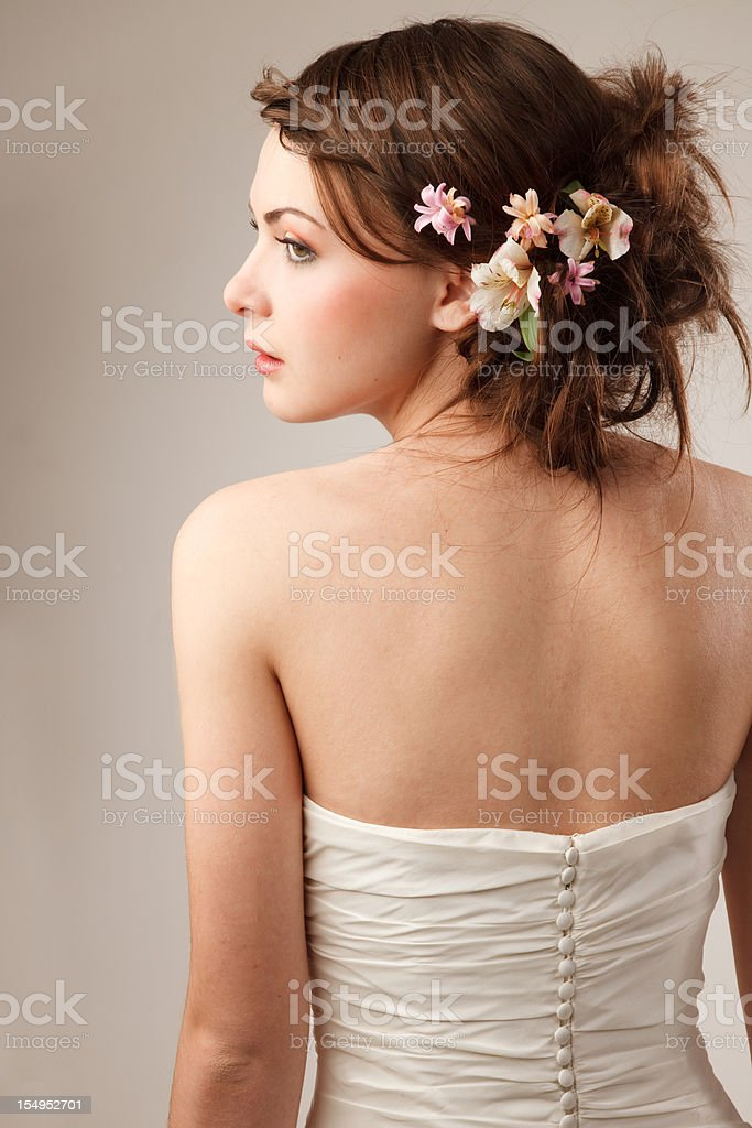Bride shooted from back stock photo