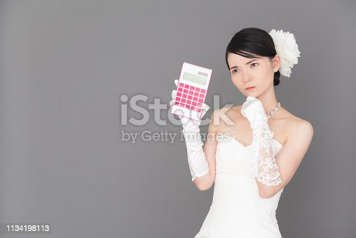istock Bride wearing a wedding dress 1134198113