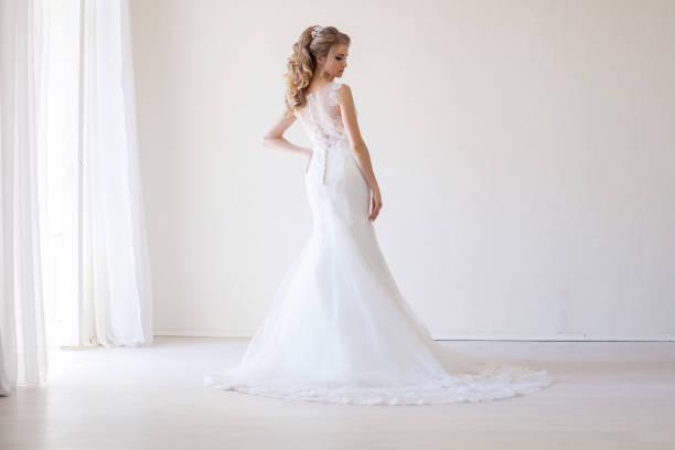 bride wedding gown white wedding love stock photo