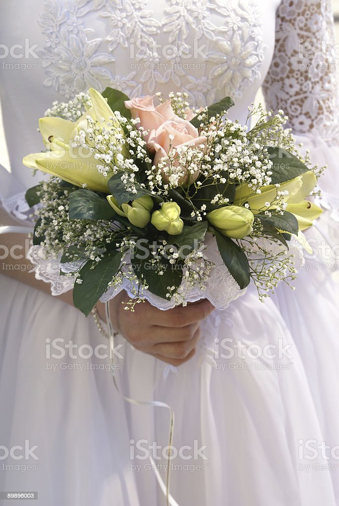 Bride wiht bouquet royalty-free stock photo