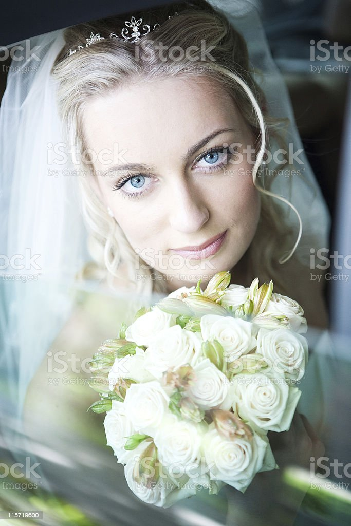 Bride with a Bouquet royalty-free stock photo