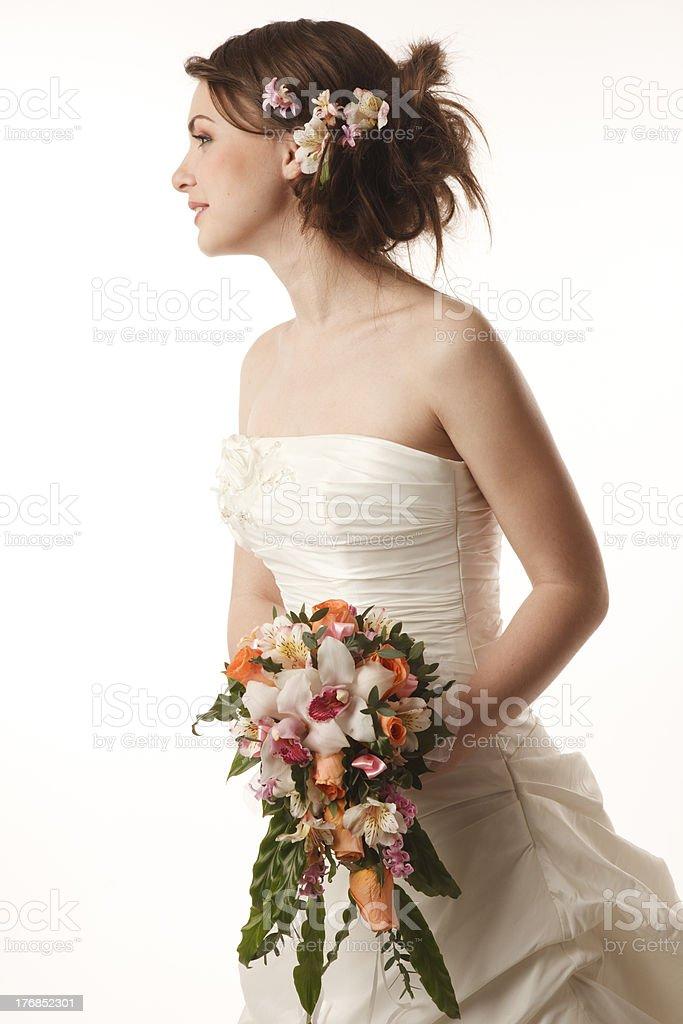 Braut mit bouquet – Foto