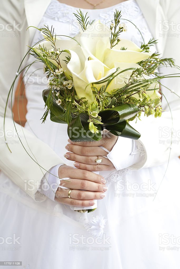 Bride with bouquet royalty-free stock photo
