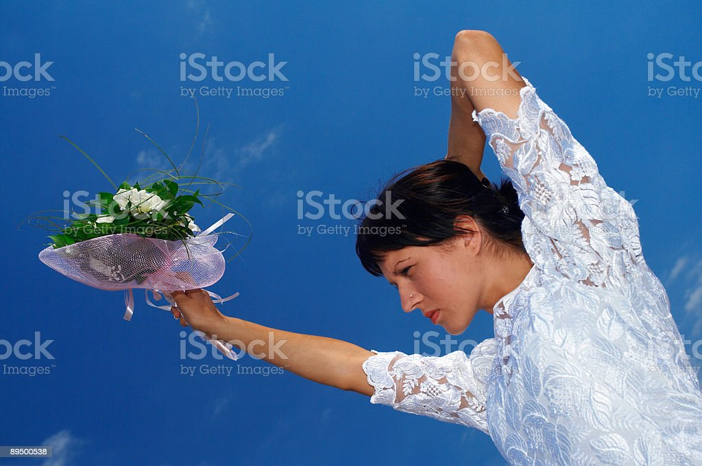 Panna młoda z Bukiet róż zbiór zdjęć royalty-free