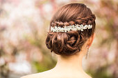 Luxury diamond tiara in bridal hairstyle