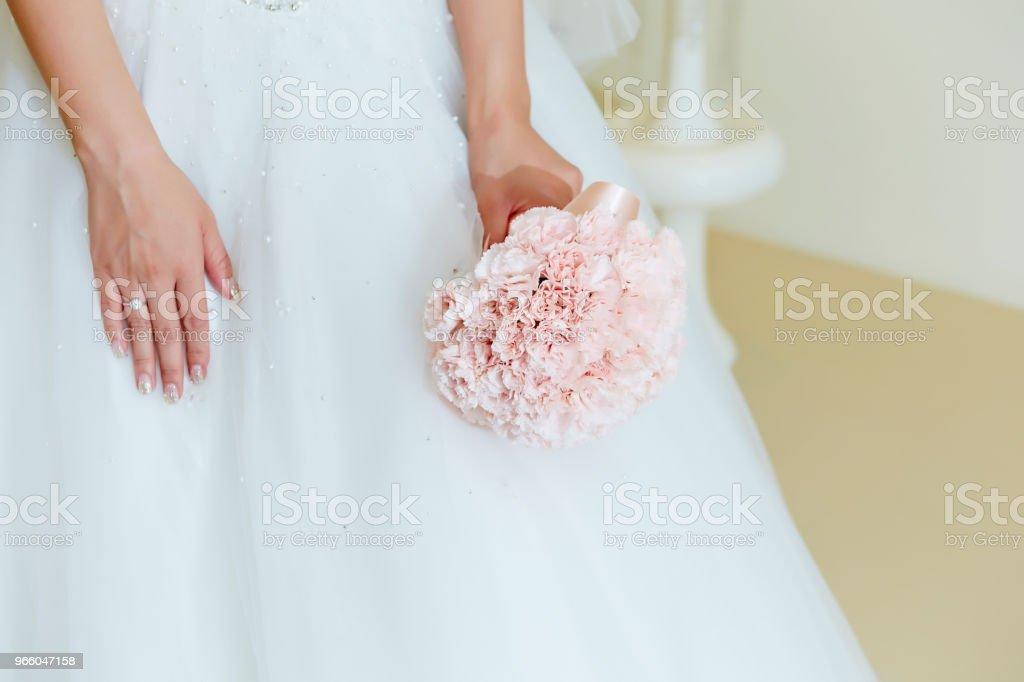 Bride with flower bouquet - Royalty-free Acontecimentos da Vida Foto de stock