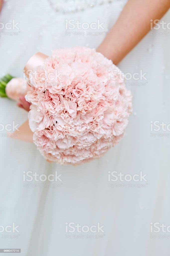 Braut mit Blumenstrauß - Lizenzfrei Besonderes Lebensereignis Stock-Foto
