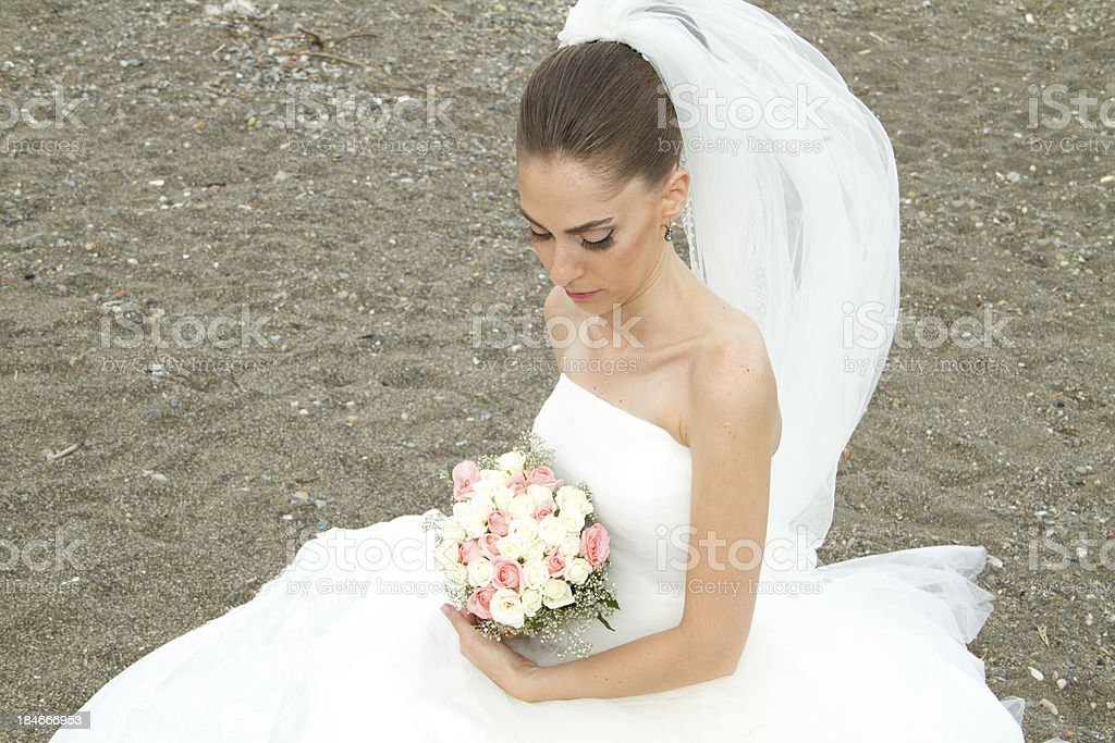 Bride with Roses royalty-free stock photo
