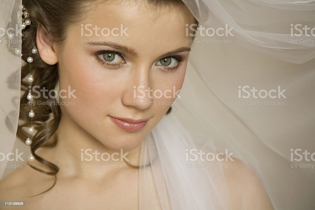 Bride with the veil stock photo